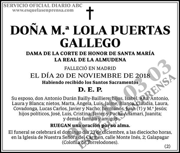 M.ª Lola Puertas Gallego